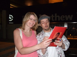 Me and Derren hanging out!